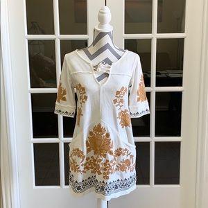 Free People embroidered tunic mini dress